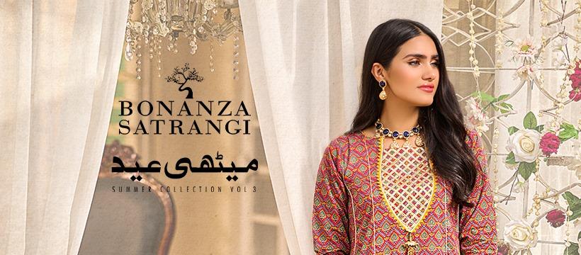 Latest Bonanza Satrangi Eid Collection