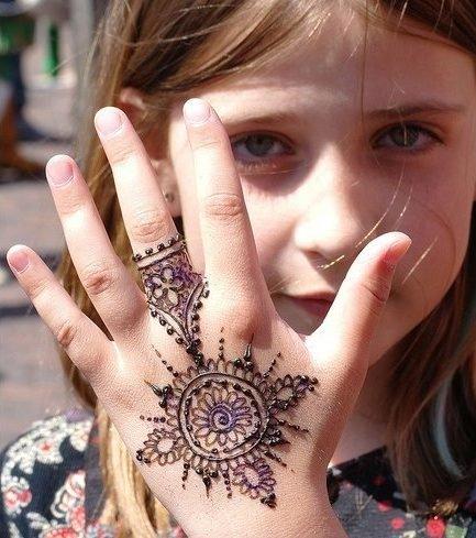 Kids Eid Simple Mehndi Design