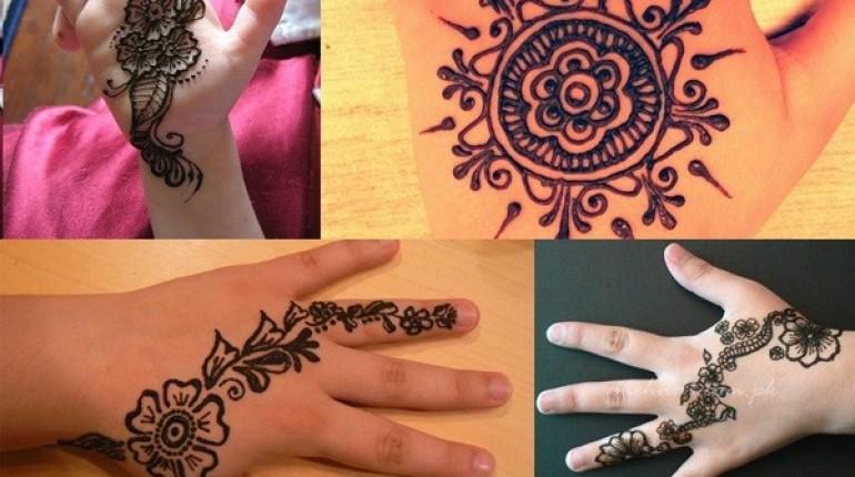Eid Mehndi Designs For Kids 2021