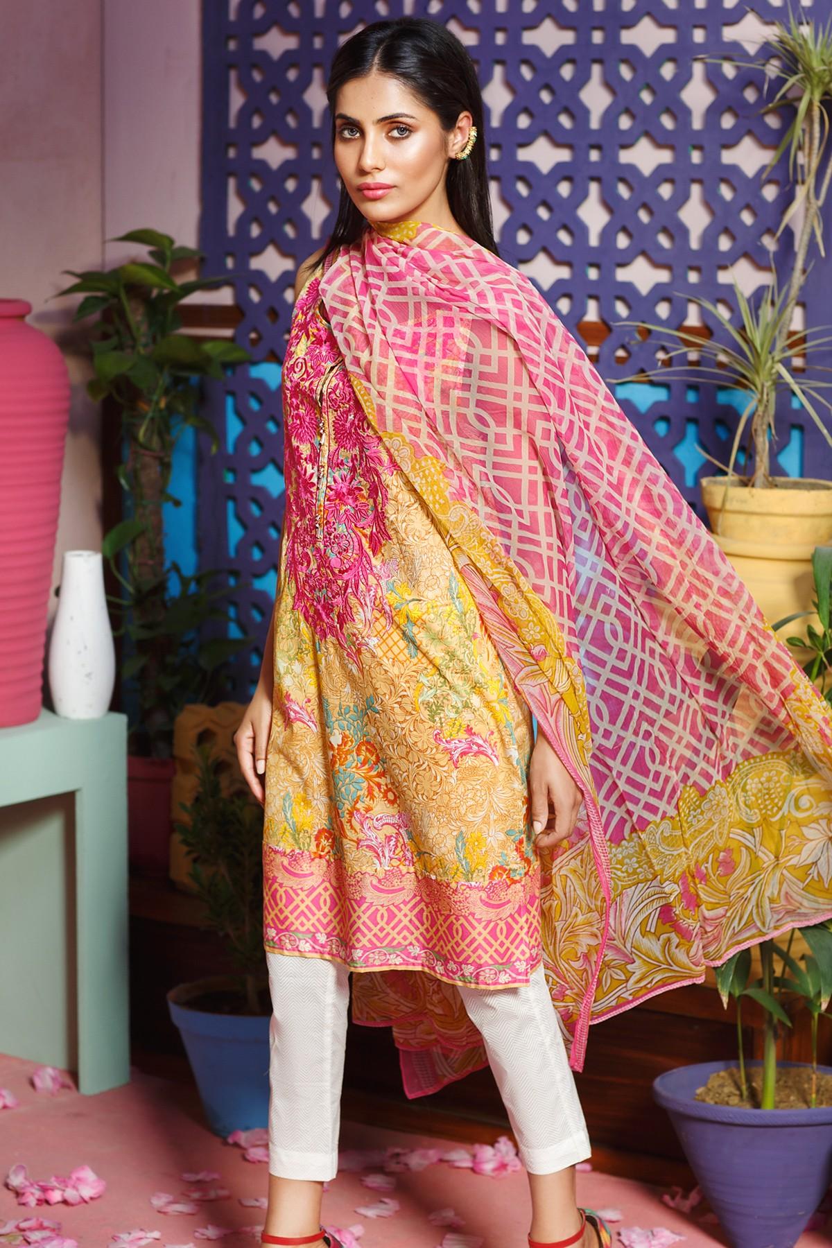 Pakistani Eid Lawn Dresses