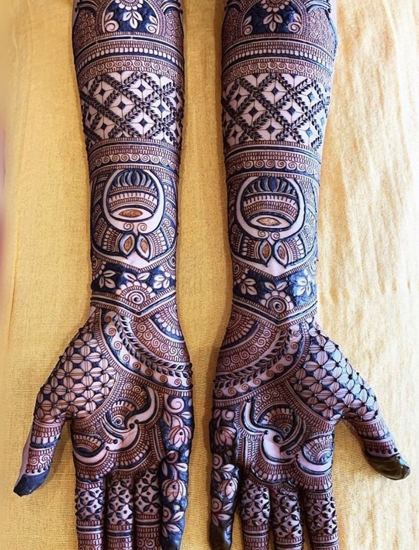Full hand design for kurwa chauth