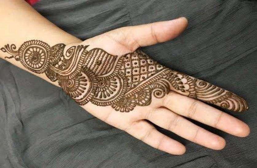 Full hand design for raksha bandhan