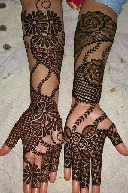 Full hand mehdni design for raksha bandhan