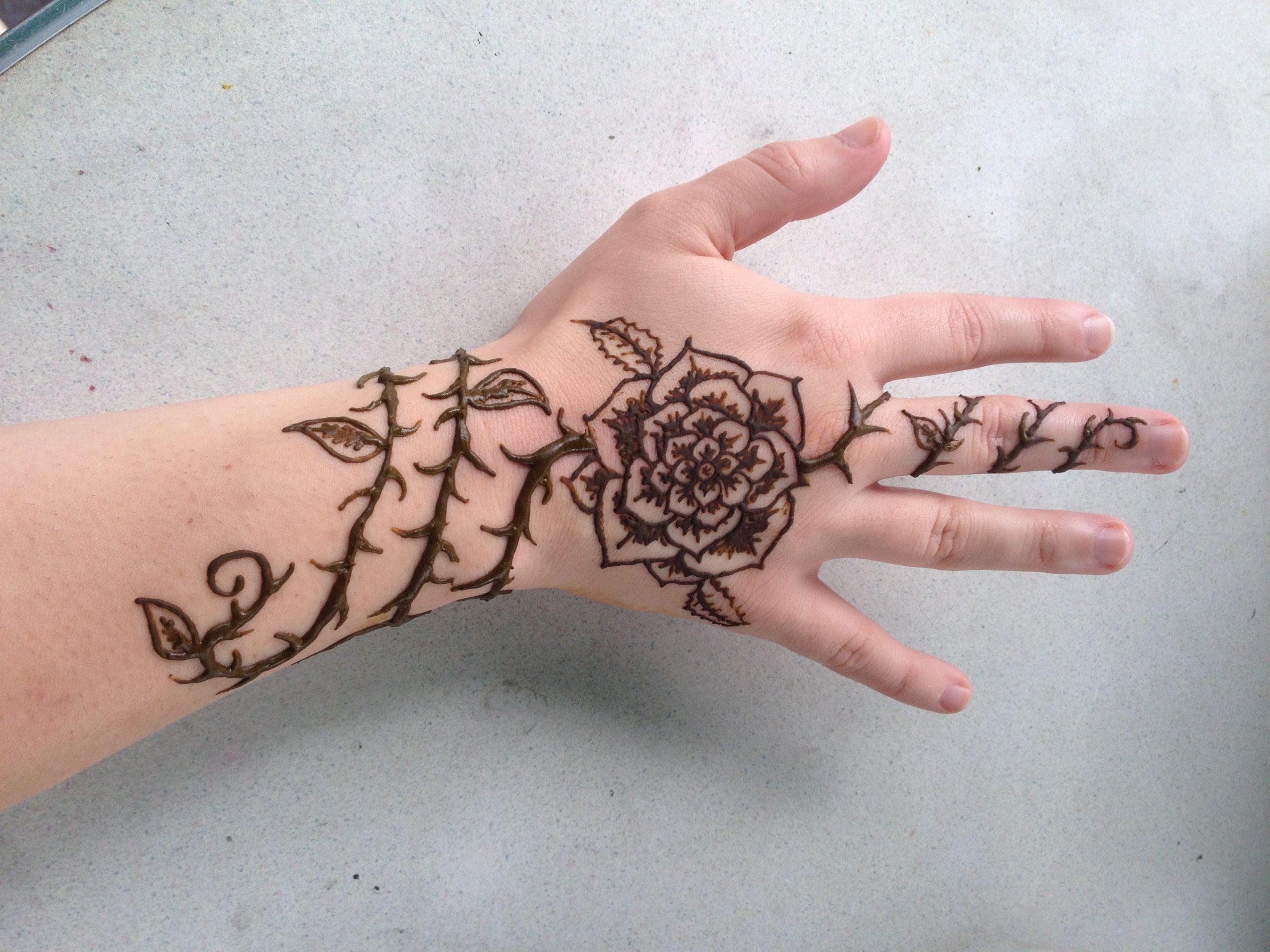 Henna Flower Design Tattoo