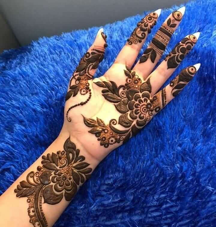 Henna Flowers and leaves designs