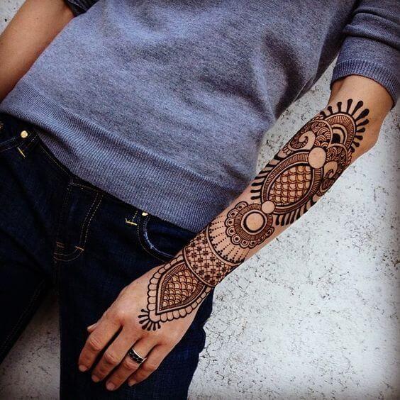 Henna Forearm design For men