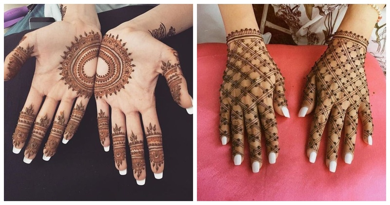 Henna Hand and Back Design
