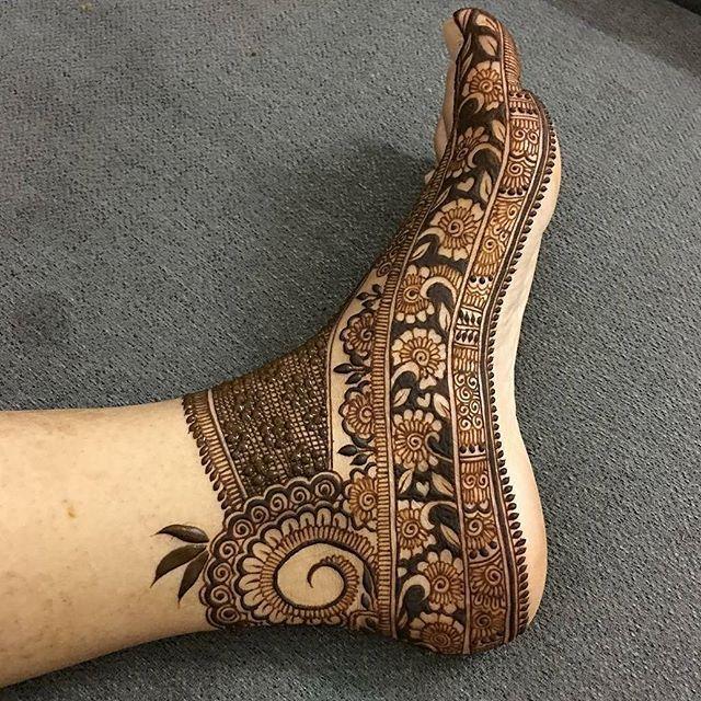 Henna Intricate foot design