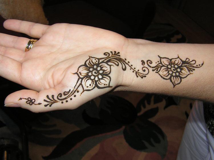Henna Palm Tattoo design simple