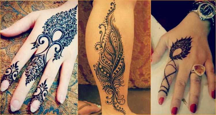Henna Simple Birds or feathers design