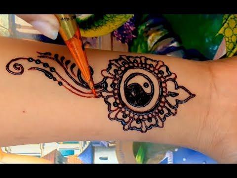 Henna Yin Yang Tattoo designs