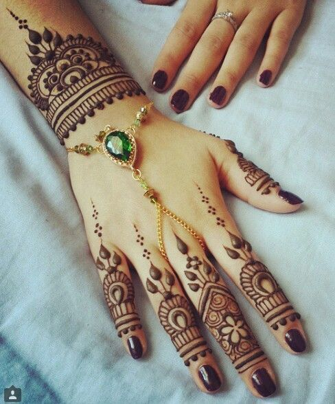 Latest Henna Fingertips and wrist designs