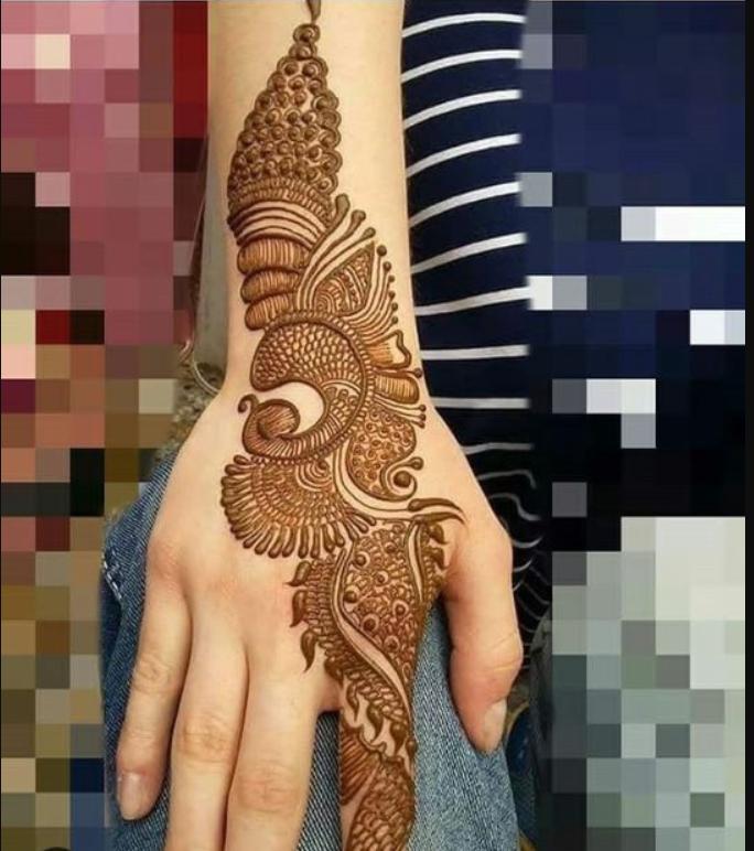 Mehndi design on full hand for raksha bandhan