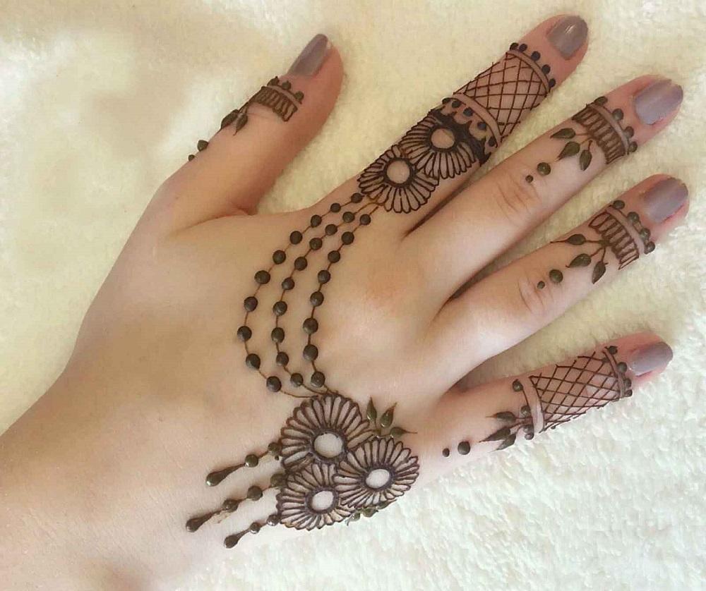 Mehndi design on raksha bandhan