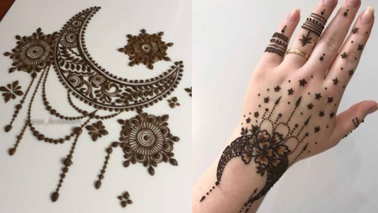 Moon New Henna Design