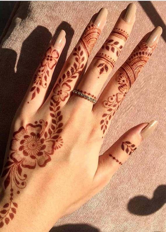 Simple Patterns Henna Tattoo