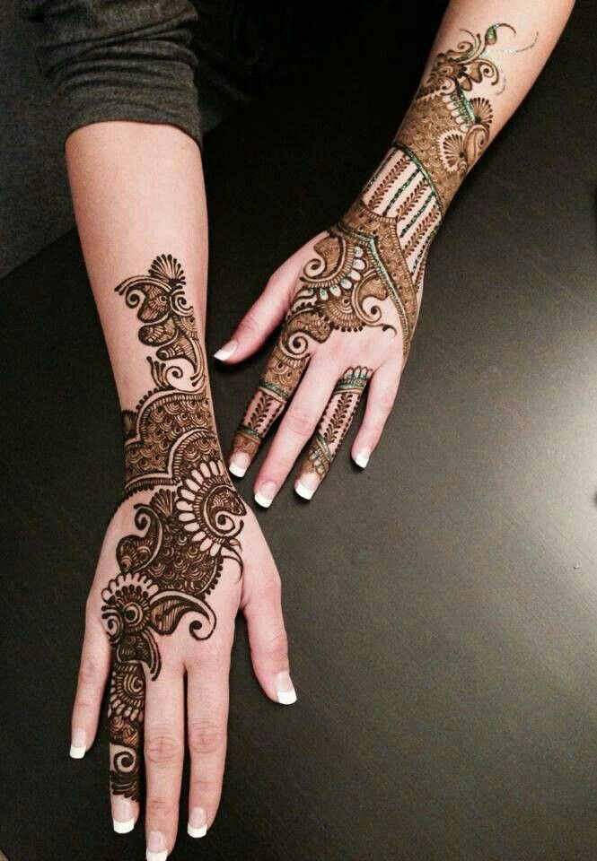 full hand mehndi for raksha bandhan