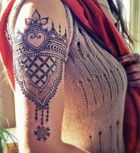 henna Forearm design