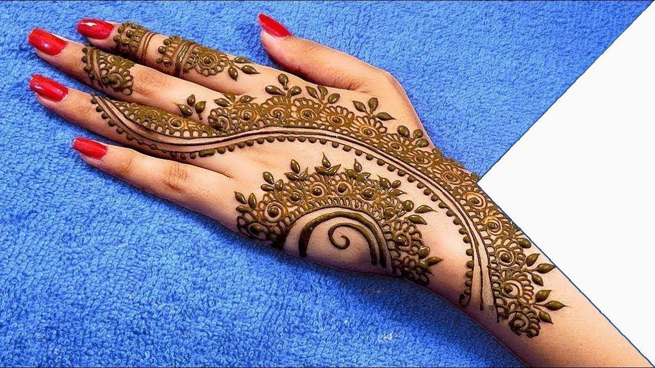 Attractive Arabic Mehndi Designs for Backhand