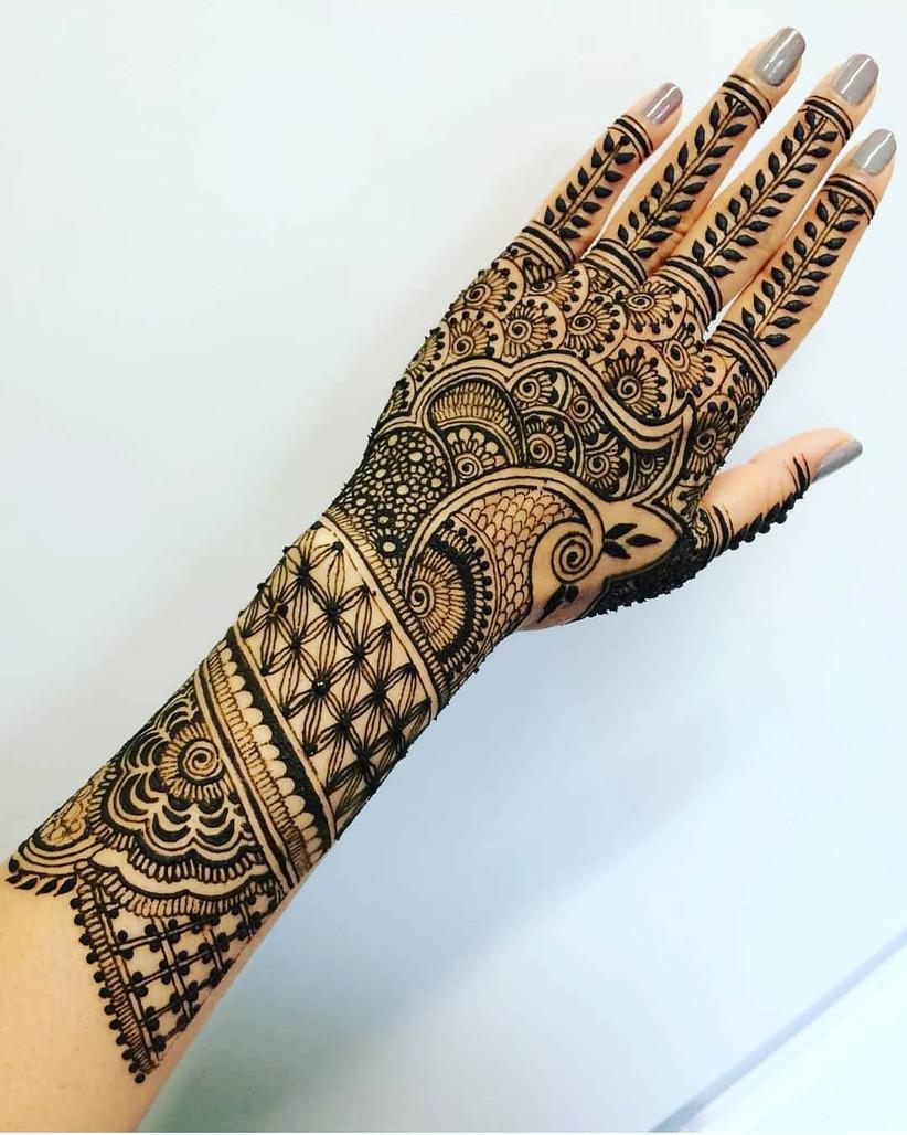 Backside Indian Mehndi Design