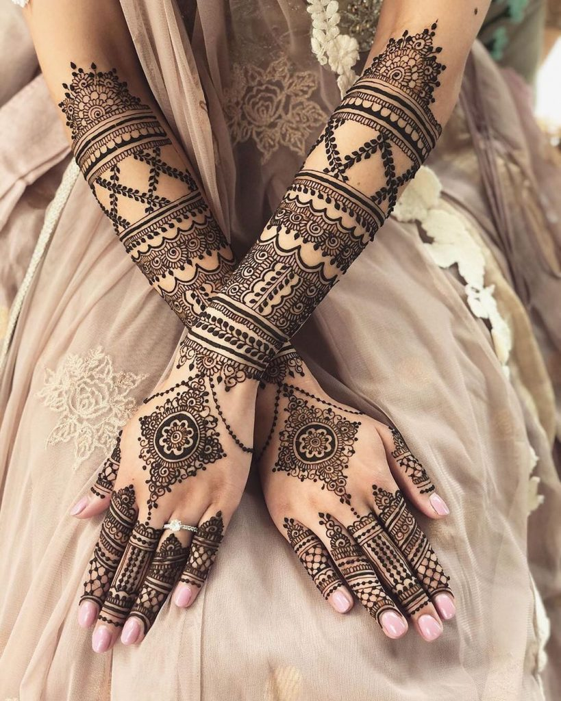Bridal Front Hand Mehndi Design