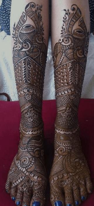 Bride Leg Mehndi Design