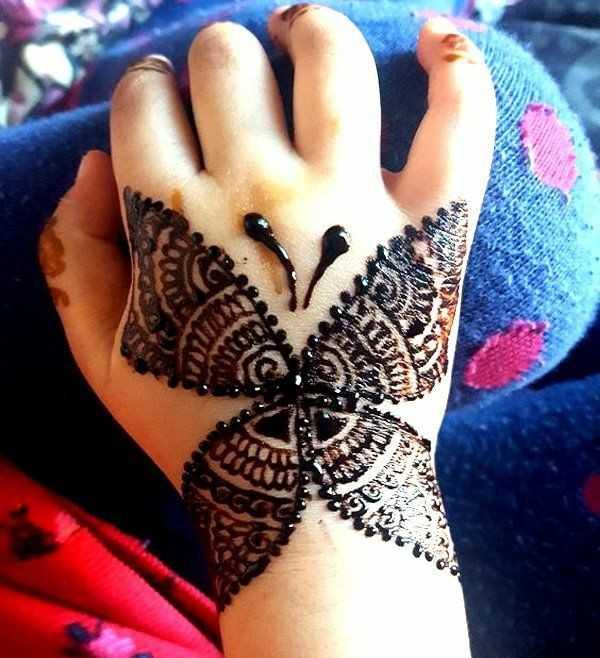 Cute Easy Latest Mehndi Design For Finger