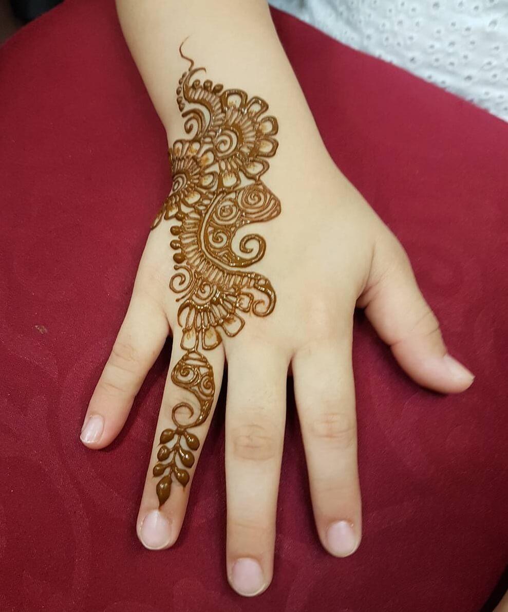 Easy Arabic Mehndi Designs For Kids