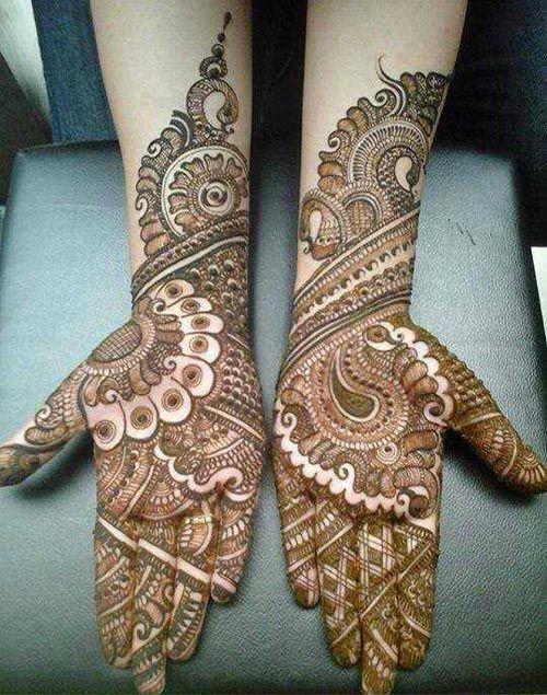 Elegant rajasthani mehndi design