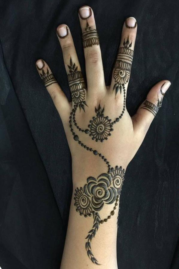 Finger Backside Latest Mehndi Design
