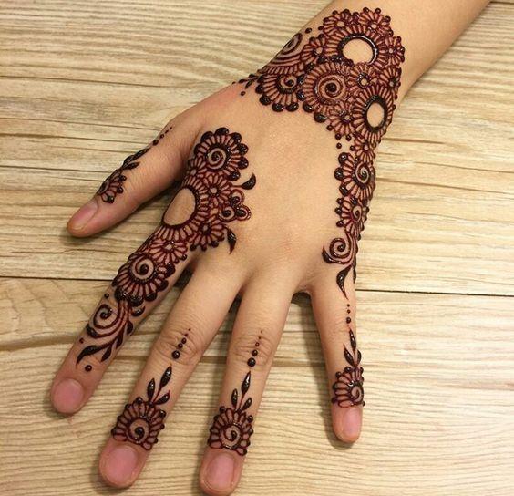 Finger Backside Mehndi Design