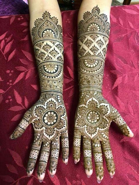 Front Hand Mehndi Design Bridal