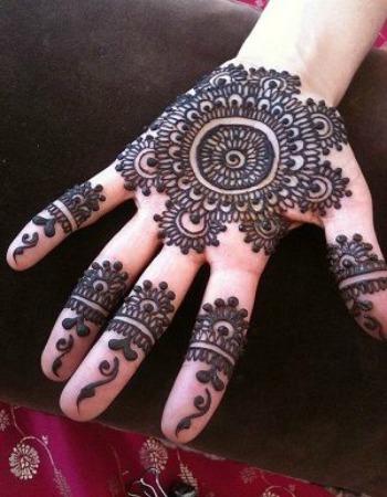 Front Hand Mehndi Design Bunch