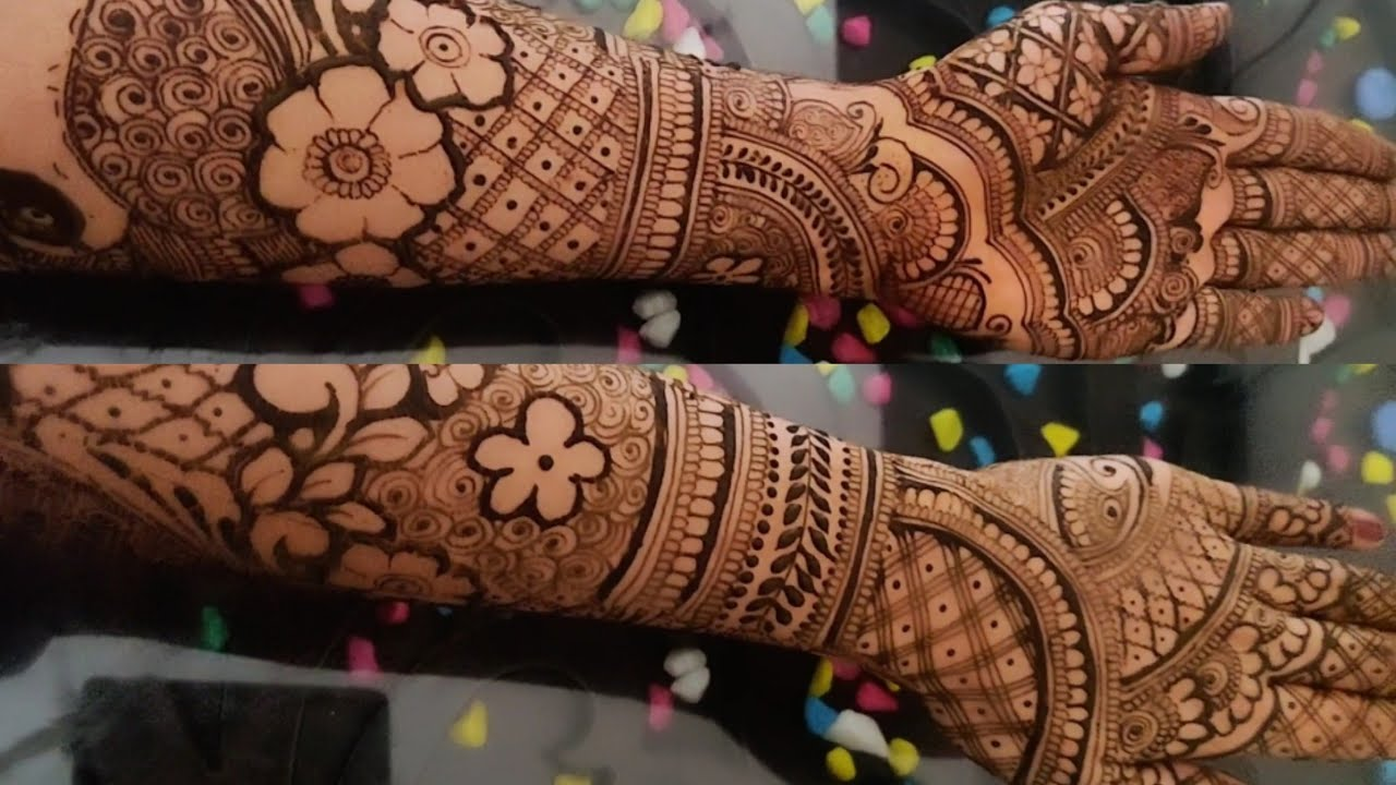 Front Hand Mehndi Design For Bridal