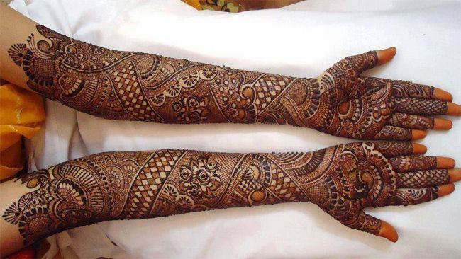 Front Hand Mehndi New Design Bridal