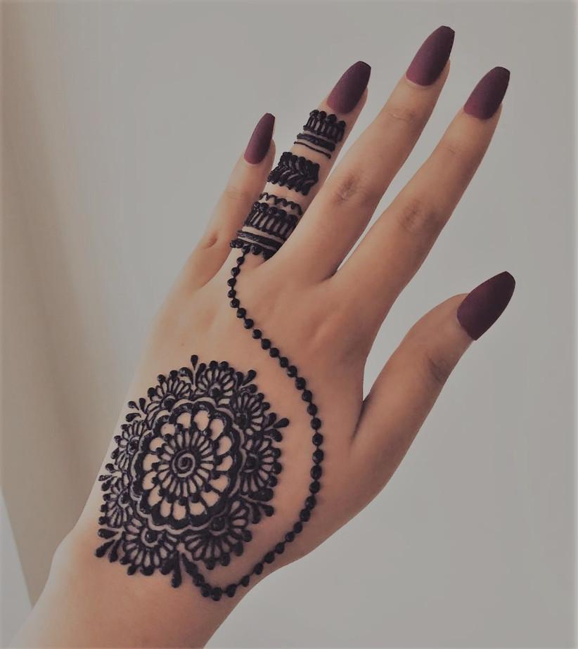 Gorgeous Indian Mehndi Desings For finger