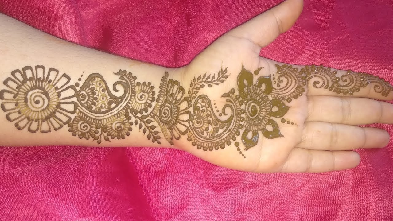 Gorgeous Indian Mehndi Simple Design