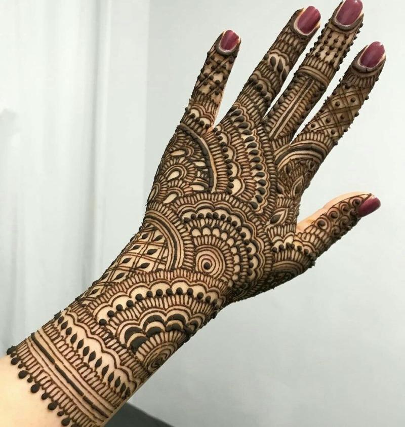 Indian Backside Mehndi Design