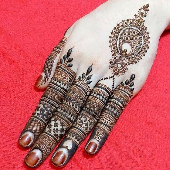 Indian Mehndi Designs Fingers