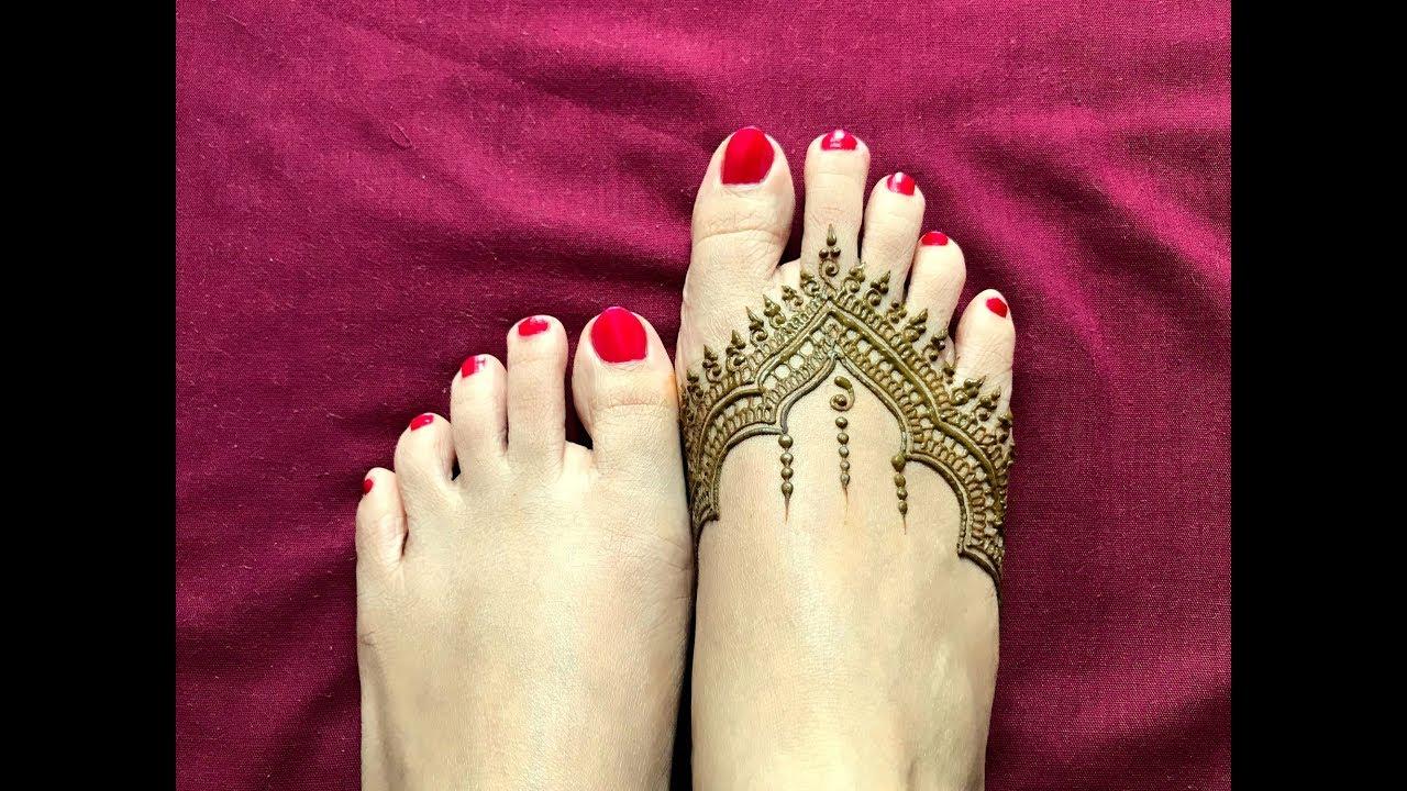 Indian Mehndi Designs For Foot