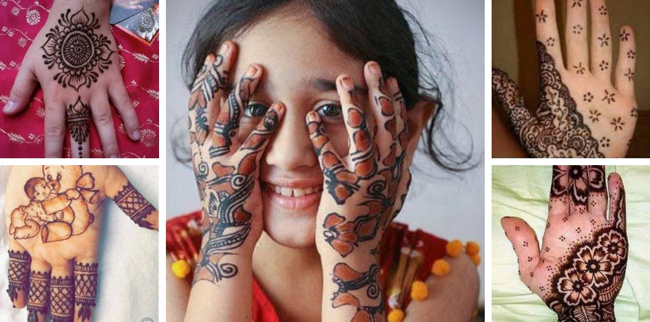 Latest Kids Mehndi Designs
