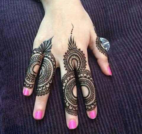 Latest Design For Finger Mehndi