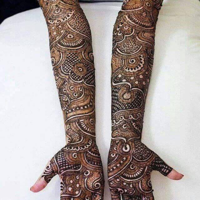 Latest Front Hand Mehndi Design Bridal