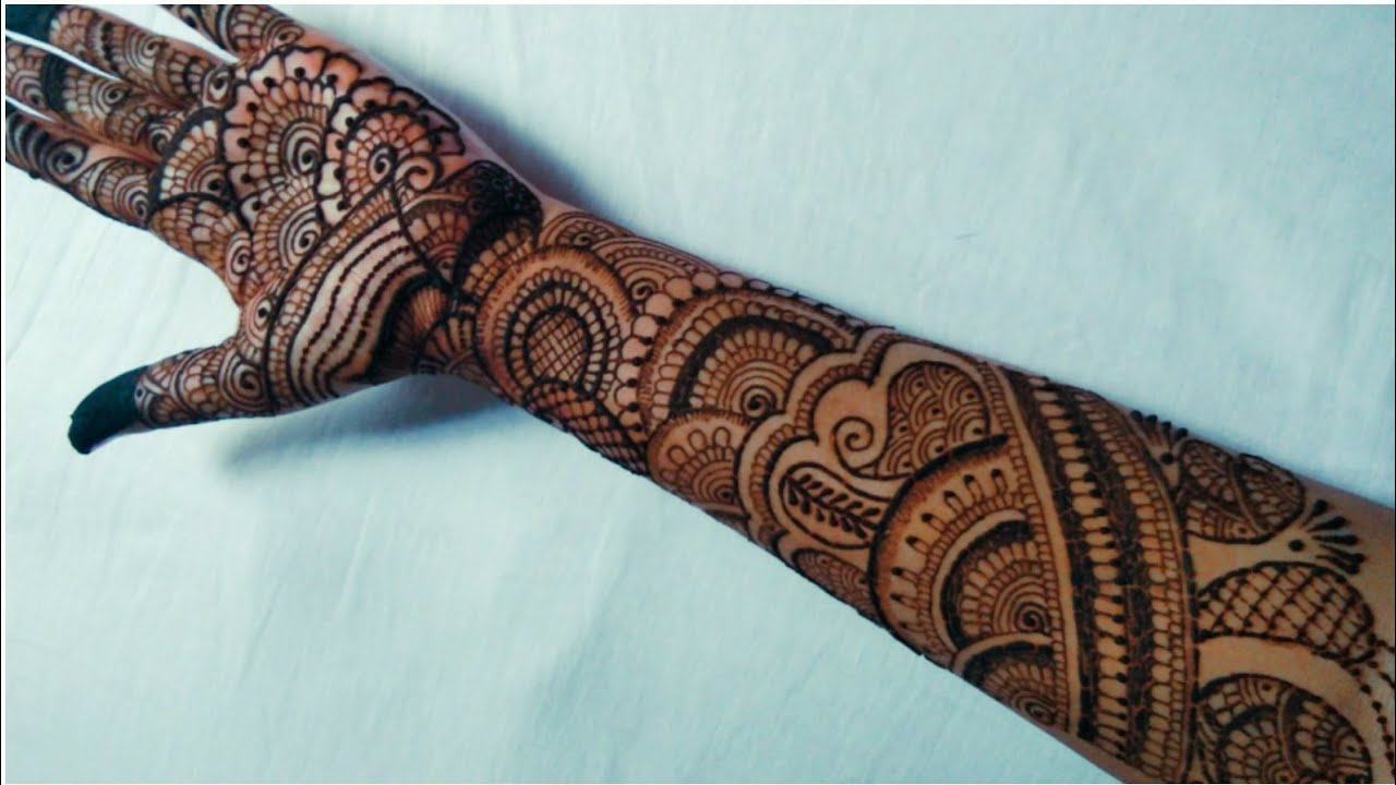 Latest Front Hand Mehndi for Bridal
