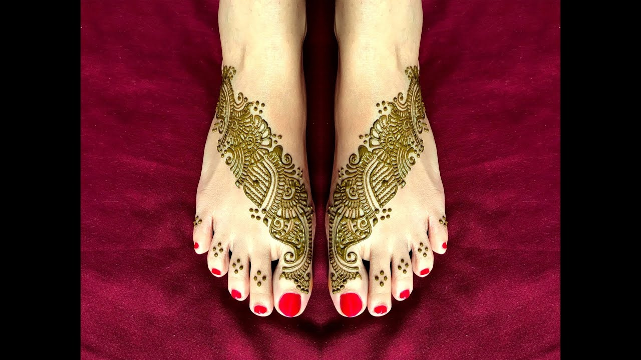 Latest Indian Mehndi Designs For Foot