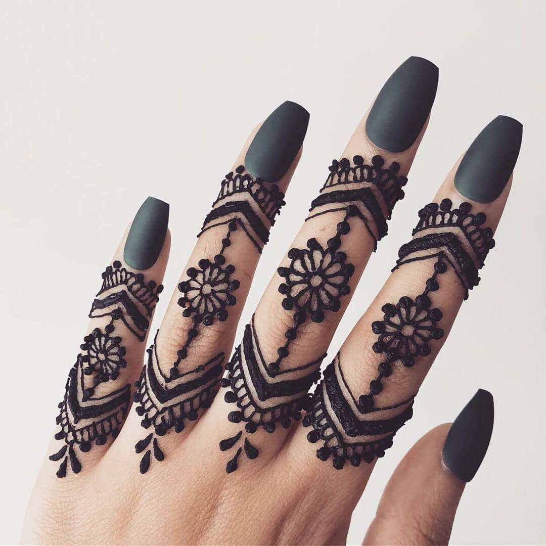 Latest Indian Mehndi Desings For finger