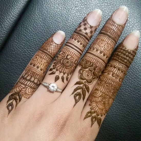 Latest Simple finger mehndi designs