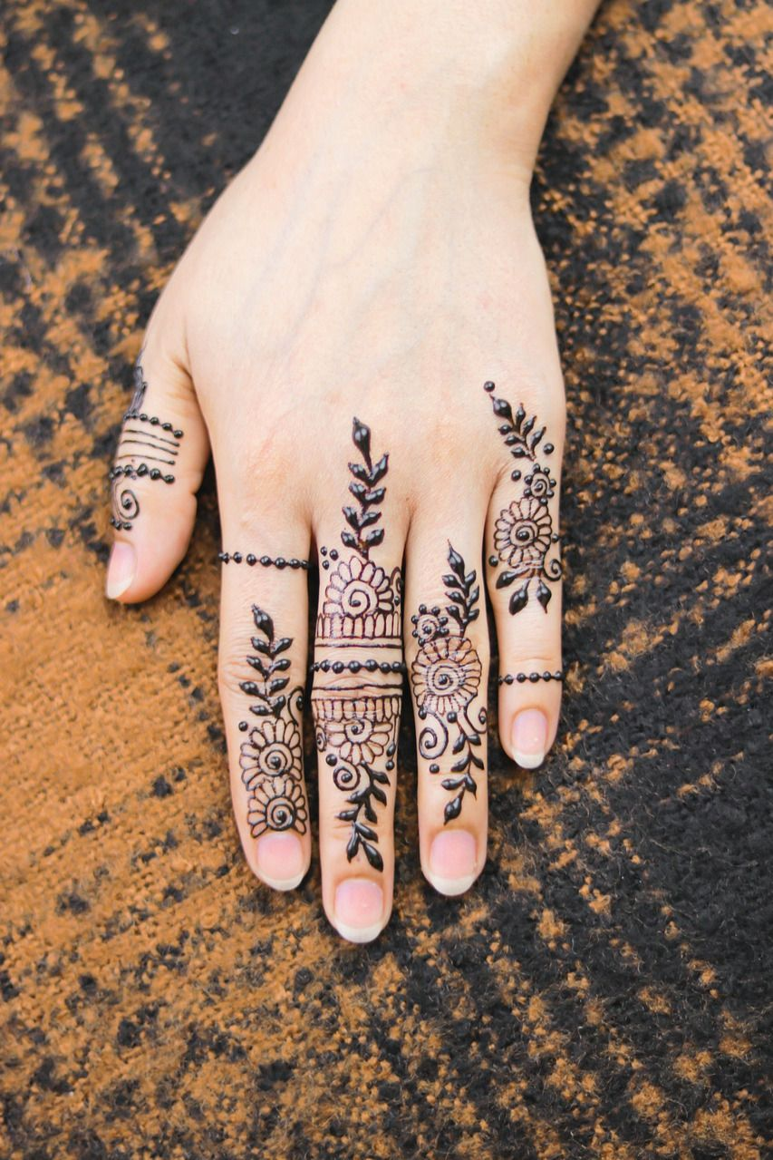 Latest Style Mehndi for Finger