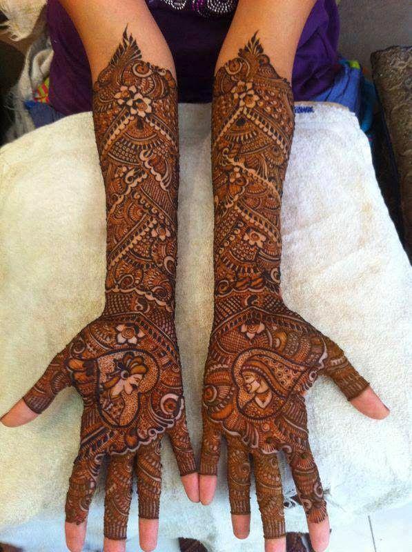 Latest rajasthani bridal mehndi design