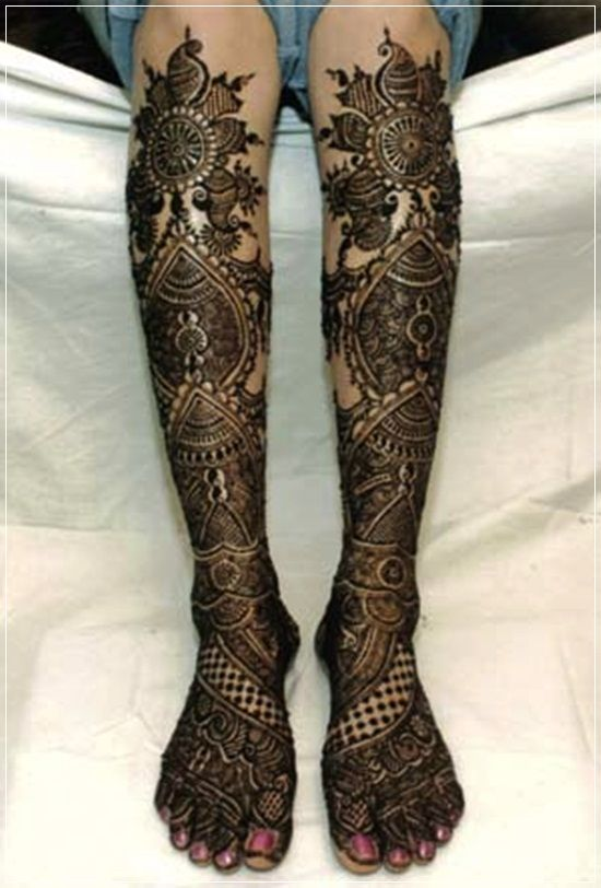 Leg Mehndi Designs Latest For Bride